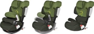 Cybex Silver Kinderautositz Pallas-fix, pure black -