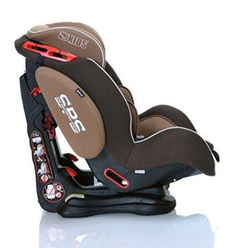 LCP Kids Autokindersitz Saturn Gr. 1, 2, 3 (9-36 kg) / 4 Liegepositionen - ECE R44/04, Farbe: Brown Creme -